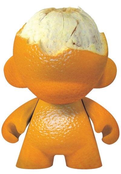 Orange Munny Peeled by ~OH-Deviant-One on deviantART