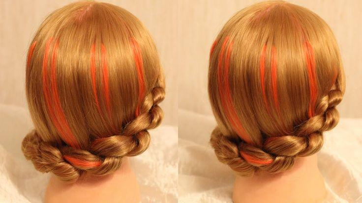 Причёска из узелков