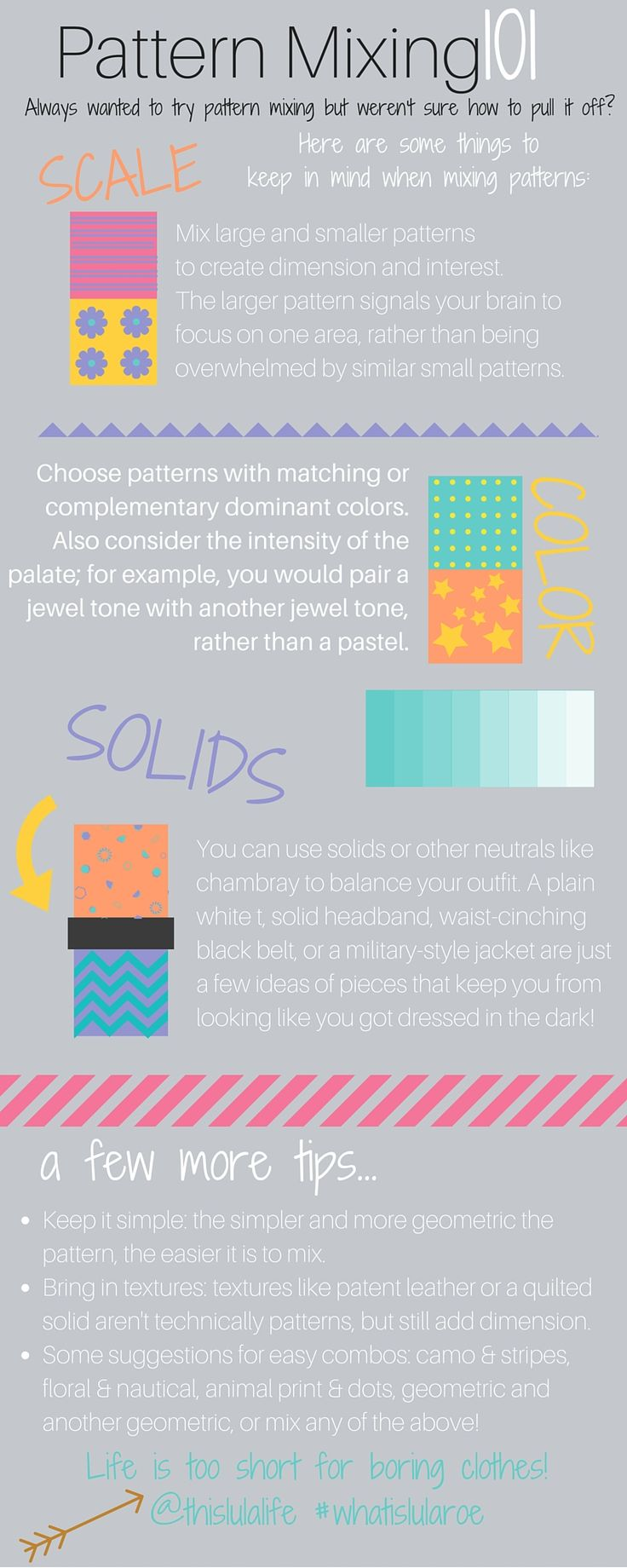 Pattern Mixing 101 - https://www.facebook.com/groups/LuLaRoeKaraStemig/
