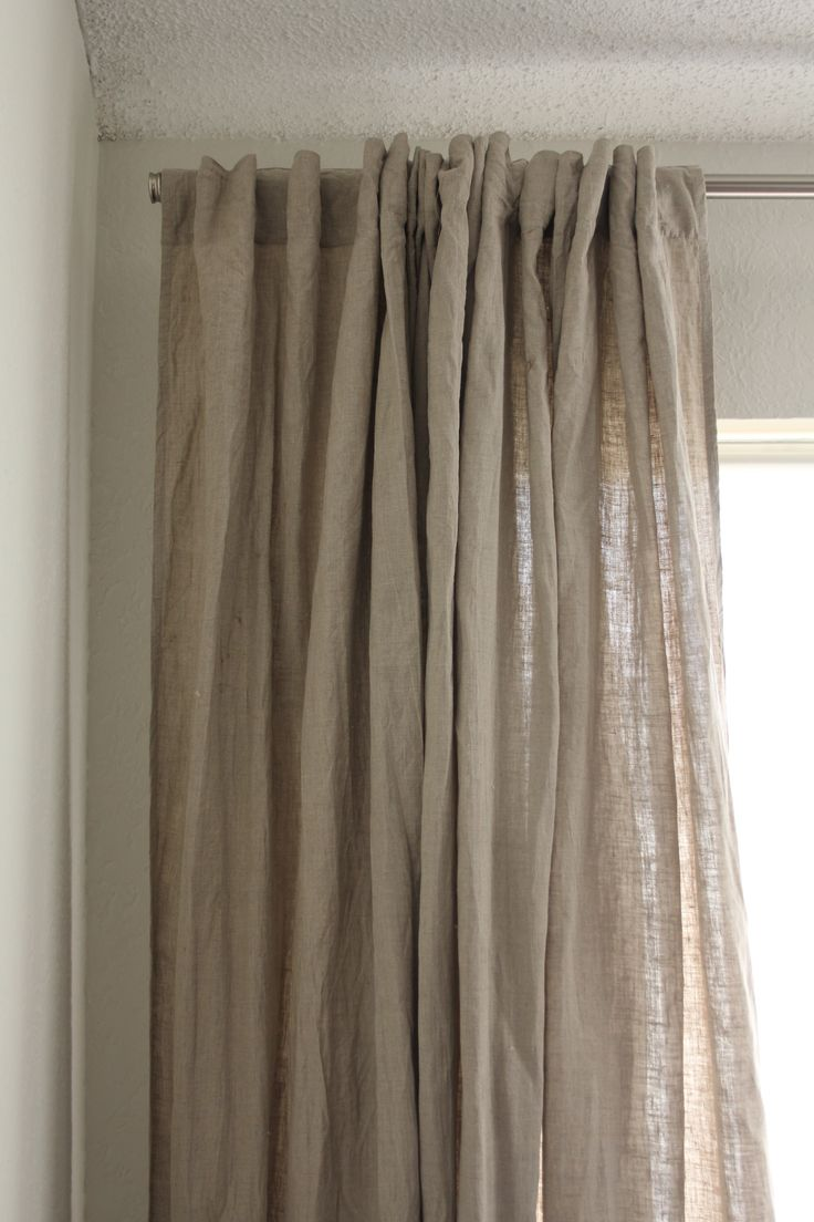 Raw Linen Window Treatments Pinterest Curtains