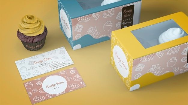 Download Download Cupcake Packaging And Branding Mockup For Free Cupcake Packaging Branding Mockups Free Branding Mockups