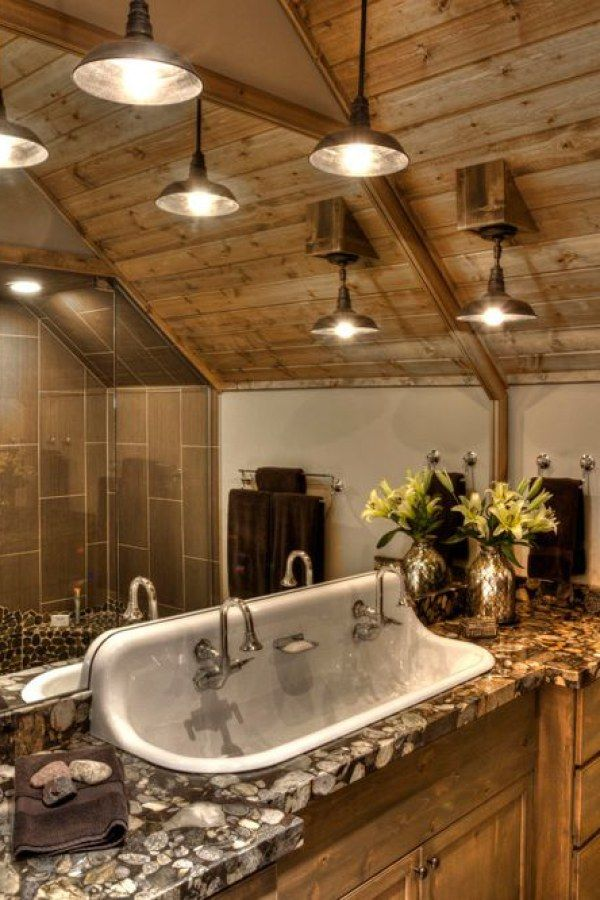 A Great Collection Of Fun Rustic Bathroom Light Ideas For The