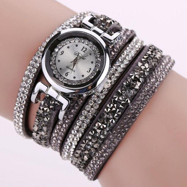 Стильный Атмосфера Шик Бриллиантовый Браслет Дамы Бренд DUOYA Моды Кожа Часы reloj mujer женские часы Бесплатная Доставка #jewelry, #women, #men, #hats, #watches, #belts