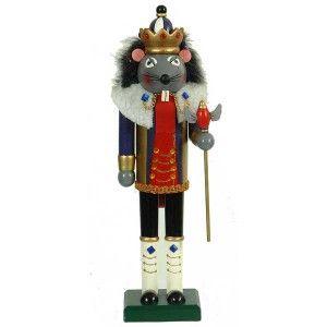 Καρυοθραύστης 38cm ξύλινος Βασιλιάς Ποντικός