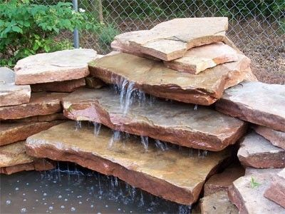 images of small garden pnds with waterfalls | How To Build A Waterfall For Your Garden Pond