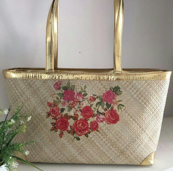 Lovrose Painting - Woven Bag