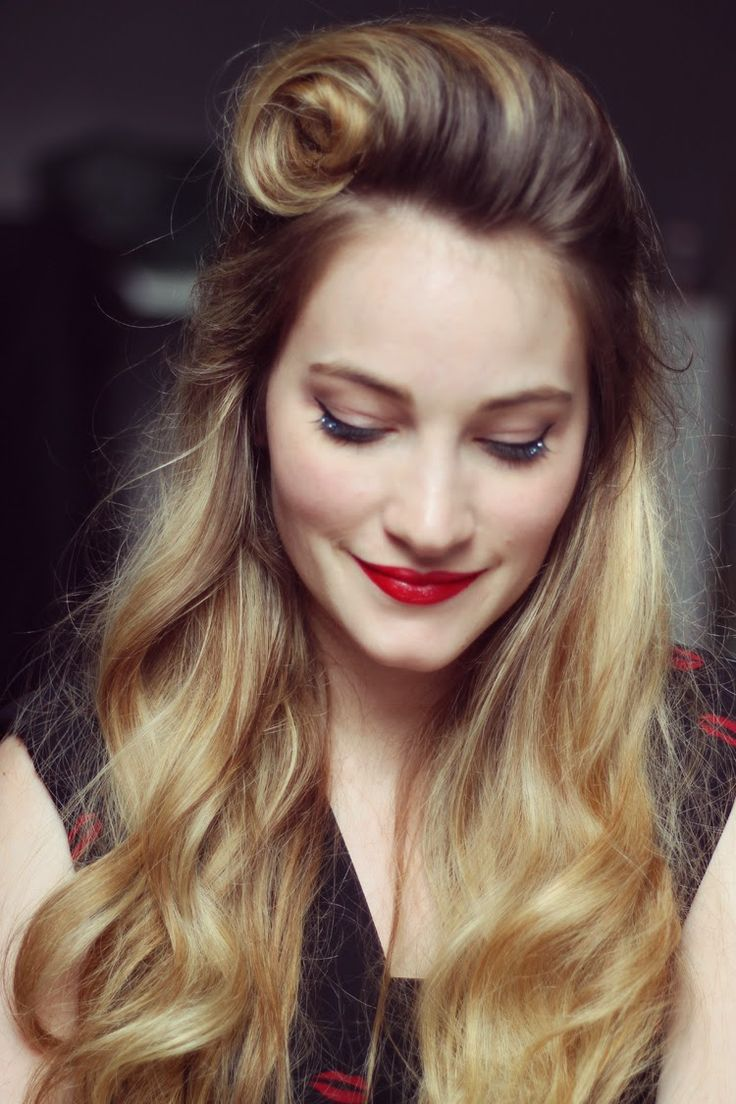 Tiboudnez: ♥ Tuto - Le victory roll façon Pinup ♥ tiboudnez, blog, do it yourself, diy, tuto, mode, beauté, blogueuse, lifestyle, glitters