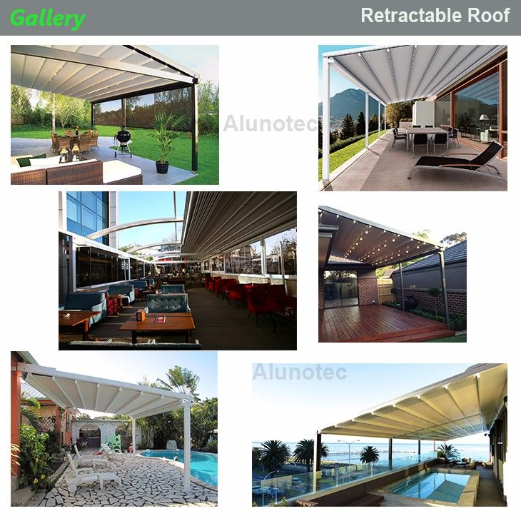 4x4 Retractable Awning Sliding Roof Gazebo With Curtain Buy Sliding Roof Gazebo Retractable Sliding Roof Gazebo In 2020 Aluminum Pergola Awning Retractable Awning