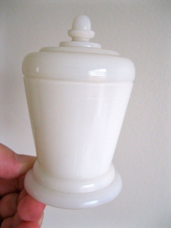 very cute art deco design vintage milk glass by 20thCenturyStuff