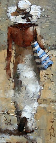 Love this - Day Off - oil painting by Andre Kohn.  I want to join her - spread the blanket and bake....: