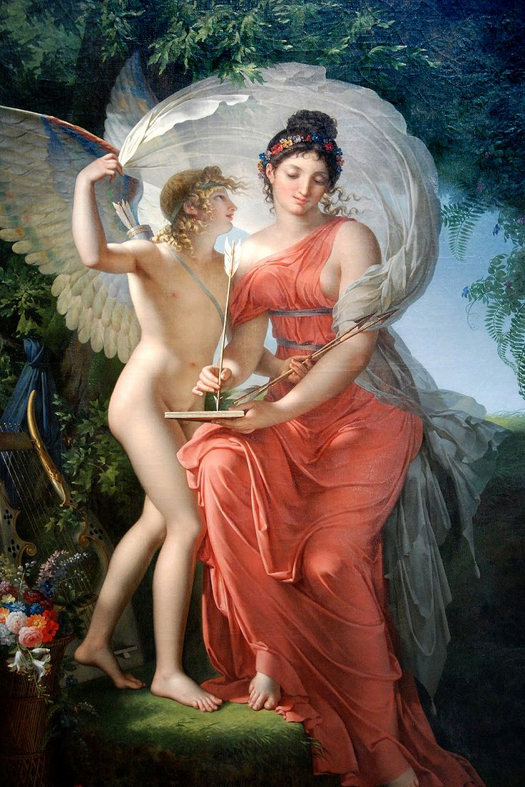 Erato, Muse of Lyric Poetry and Cupid, by Charles Meynier, 1798-1800. Gods and Foolish Grandeur: Randomly IV