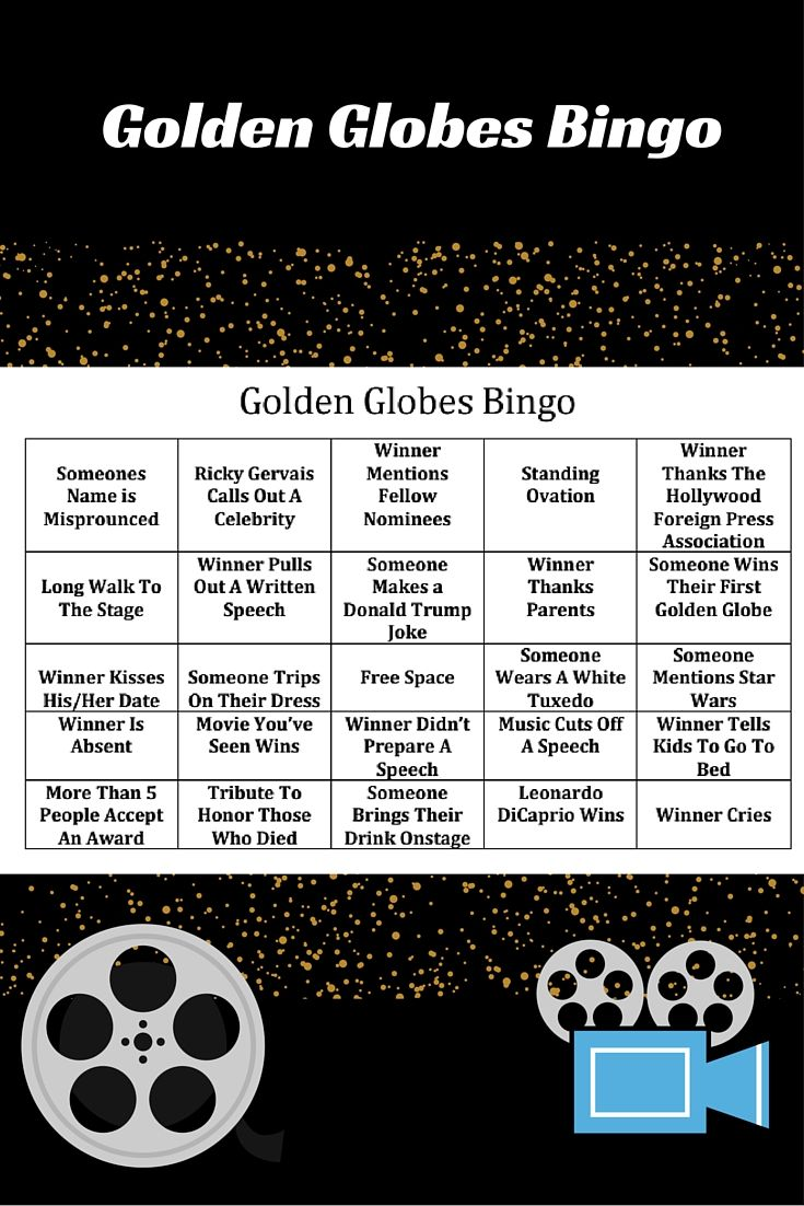 Play Bingo While You Watch The Golden Globes