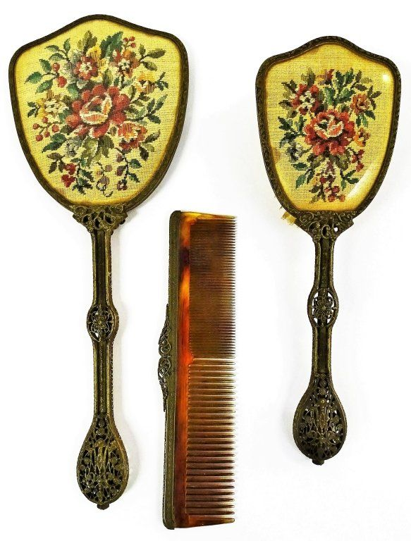 3 PIECE VICTORIAN FILLAGREE HAIR SET : Lot 257