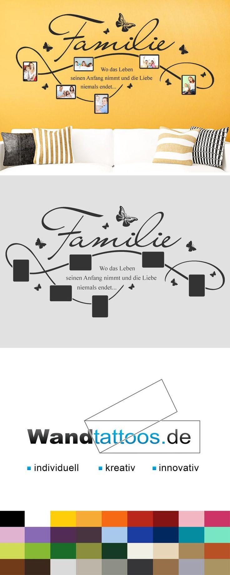 die besten 25 wandtattoo familie ideen auf pinterest. Black Bedroom Furniture Sets. Home Design Ideas