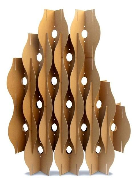 recycling cardboard for room dividers and decorative screens