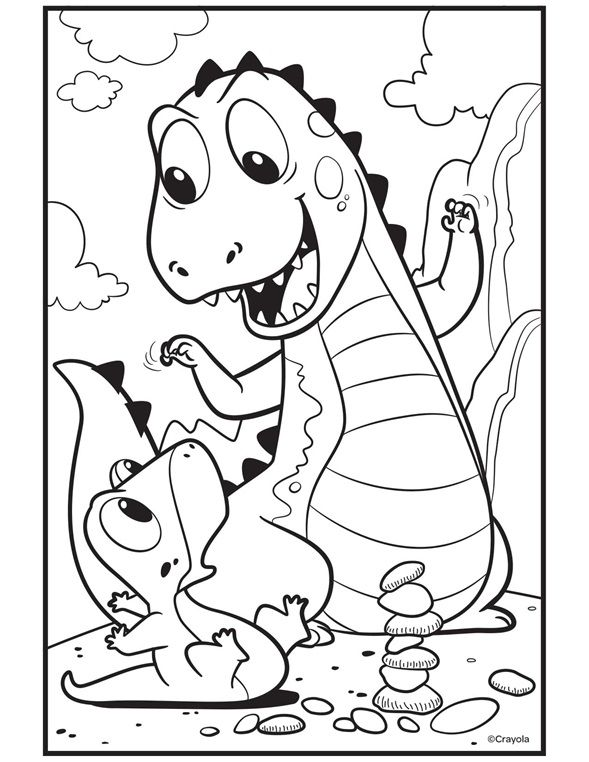 Color Our Free Trex Coloring Page That S A Cute Cartoon Dinosaur Coloring Page For Kids Downlo Dinosaur Coloring Pages Free Coloring Pages Cool Coloring Pages