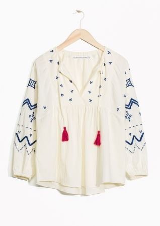 & Other Stories | TOMS Embroidered Blouse