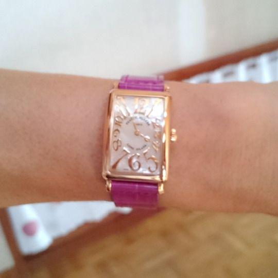 ★S様/フランク ミュラー - ロングアイランド レディース マザーオブパール ☆人には言えませんが、ある記念に購入を決めたもの♪一番大切にしています!  〝人生の節目に腕時計を〟