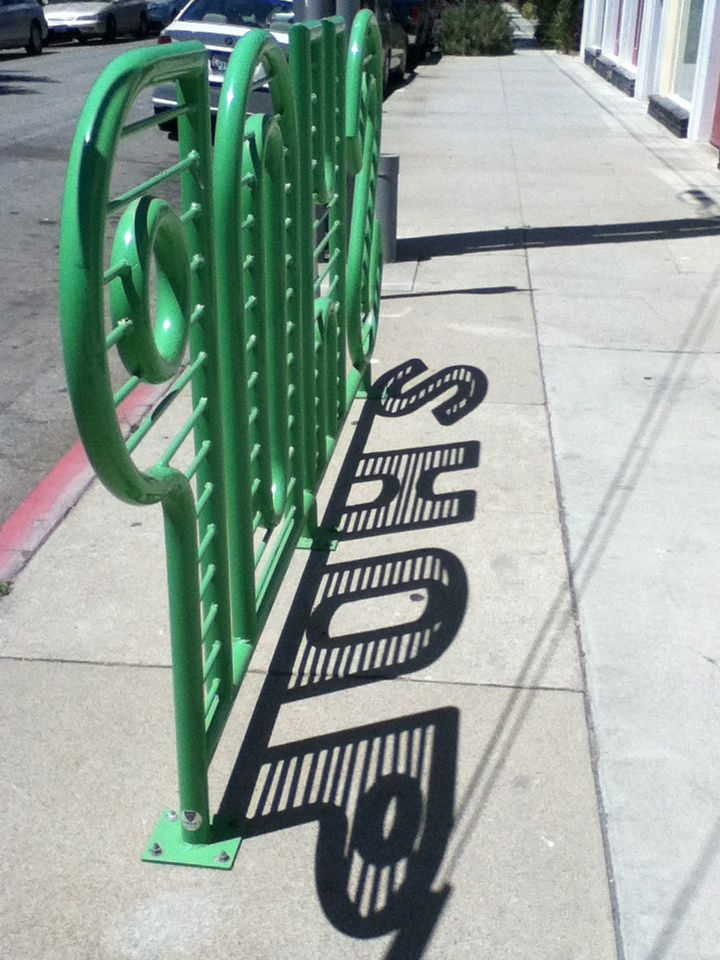 Green bike rack #bikerack #bikeracks #bicycleracks