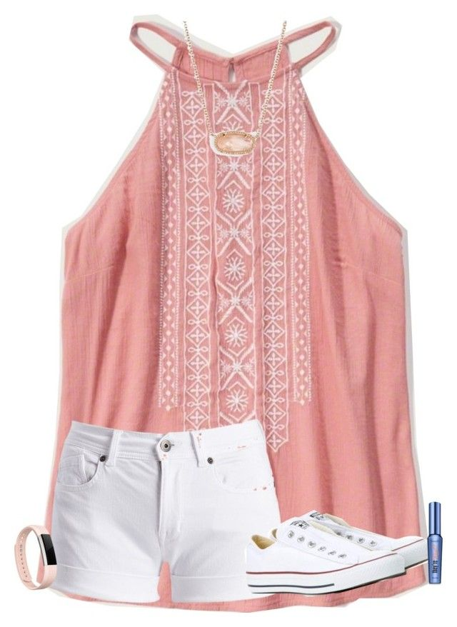 """""""comment when your bday is!"""" by texasgirlfashion ❤ liked on Polyvore featuring Abercrombie & Fitch, Barbour International, Converse, Kendra Scott, Fitbit and Benefit"""