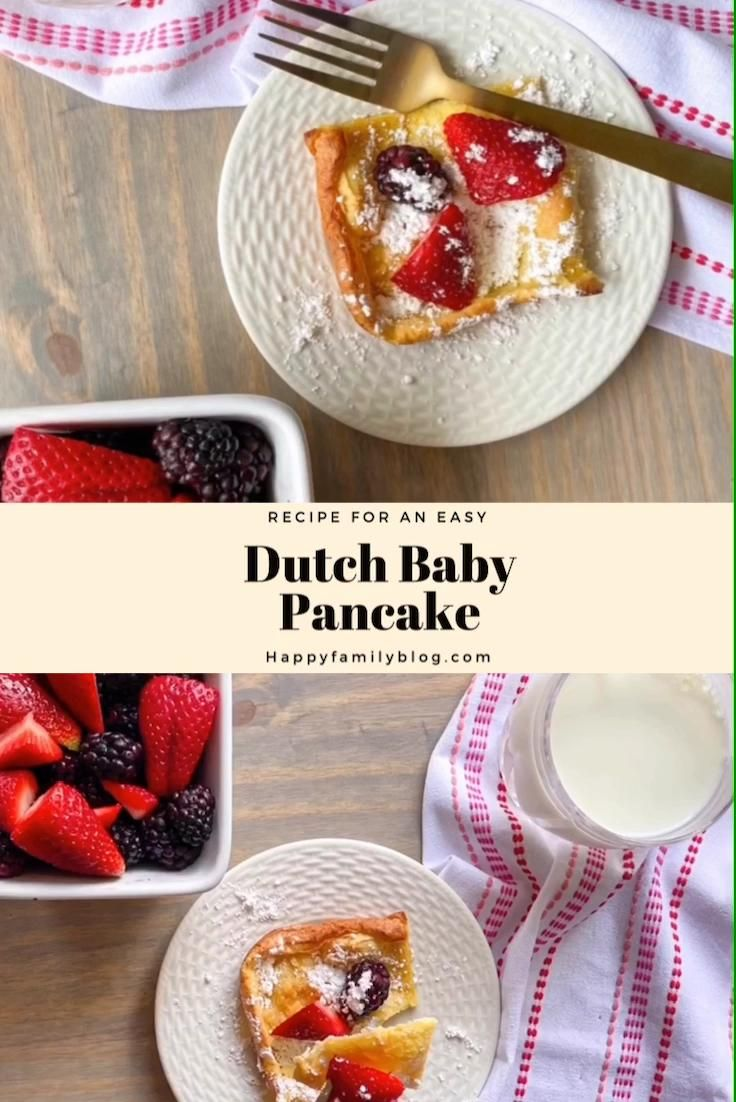 Dutch Baby Pancake Recipe • Happy Family Blog [Video ...