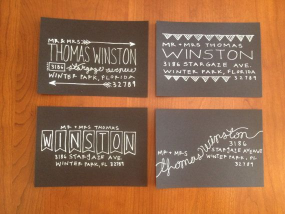 Hand-Lettered Addressed Envelopes for Weddings and Special Occasions - Custom Wedding Calligraphy - Simple Collection by minuteandco