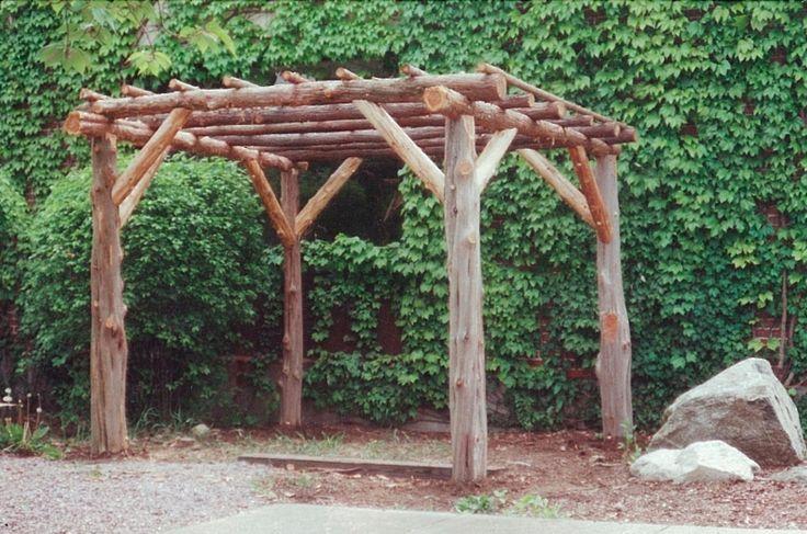 rustic arbor landscape pergola picture ideas