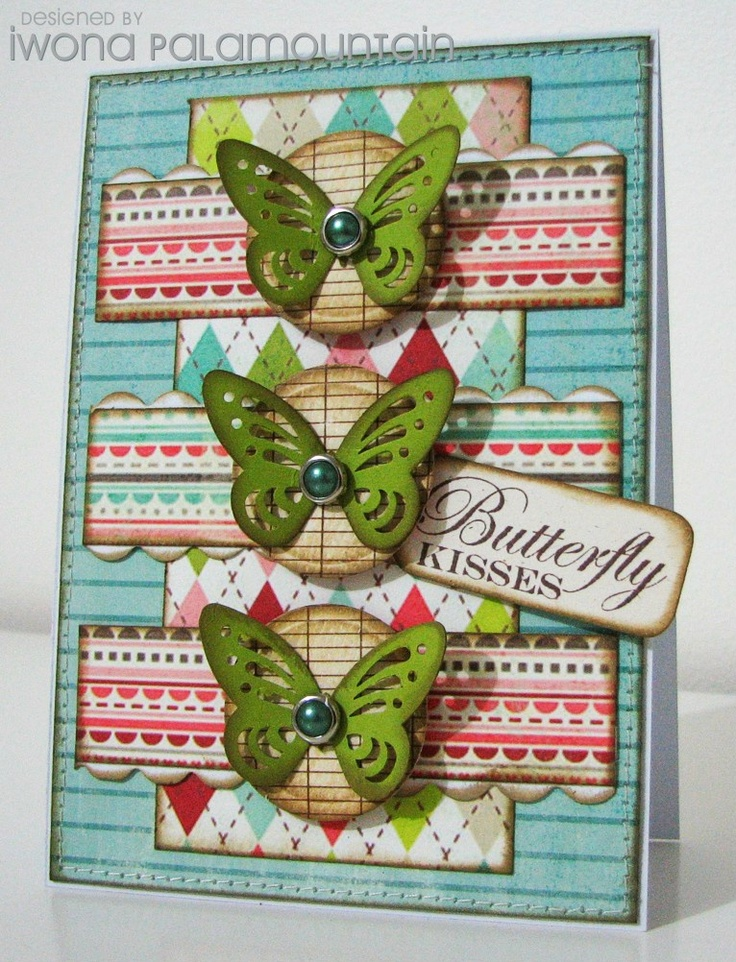 So pretty -- love those butterflies.Cards Iwona, Beautiful Cards, Cards Ideas, 1Club Ideas, Cards Butterflies, Butterflies Cards, Paper Crafts, Kisses Cards, Butterflies Kisses