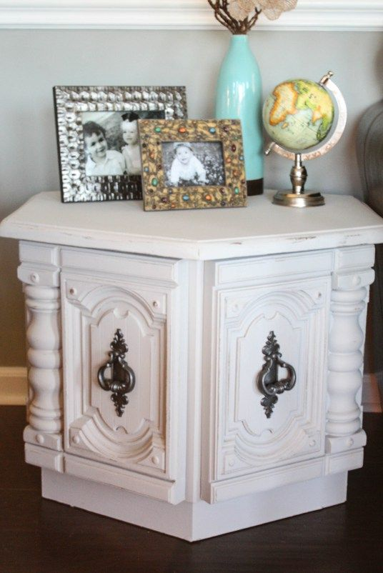 Hexagon Side Table Makeover – Re-Fabbed