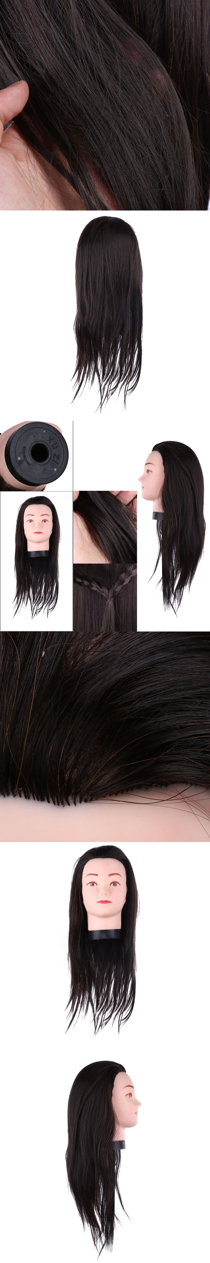 Professional Hairdressing Training Mannequin Practice Head 55cm Black Hair For Hairdressers Training Head Mannequin Head