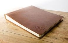 Leather Bound Personalised Wedding Album by H&Co