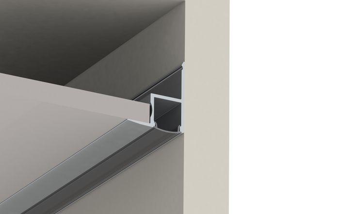 led profiel ceiling led profile plafond enerimport perfileria para instalacion de led. Black Bedroom Furniture Sets. Home Design Ideas