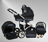 True Love Larmax Pram & Pushchair Travel System (car seat & adapter, raincover, mosquito net, swivel wheels) 79 platinum and graphite - http://www.goskyride.co.uk/true-love-larmax-pram-pushchair-travel-system-car-seat-adapter-raincover-mosquito-net-swivel-wheels-79-platinum-graphite/