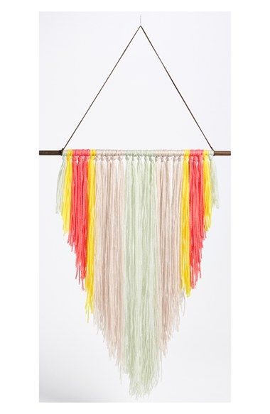 Free shipping and returns on NATURAL LIFE Yarn Wall Art at Nordstrom.com. A colorful fringe of knotted yarn composes a boho-chic wall banner suspended by a wood dowel for a casual, retro aesthetic.