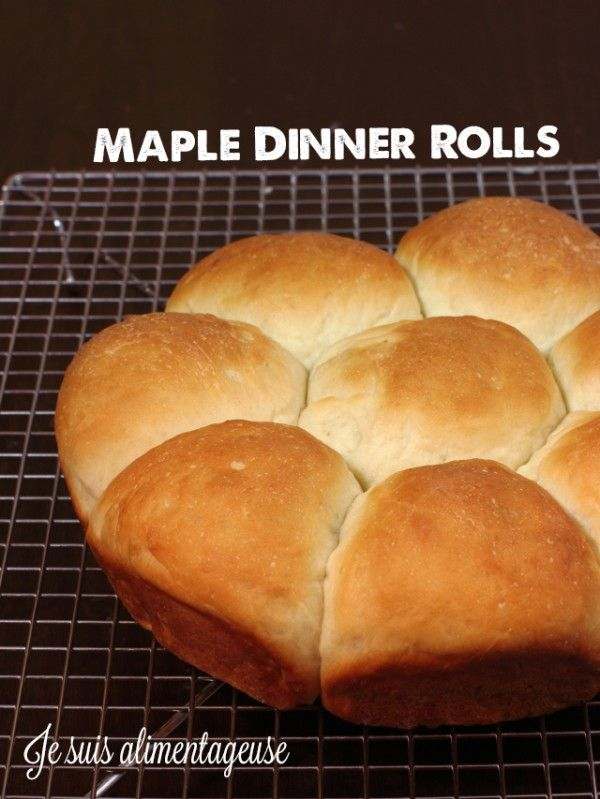 Vegan Maple Dinner Rolls - Soft, fluffy and filling rolls with a hint ...