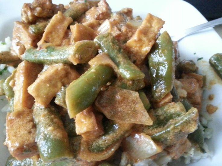 Indiase curry met spekbonen
