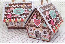 20 unids 13*17*19 cm de Navidad de embalaje cajas de la magdalena del banquete de boda favor de envases desechables para pasteles(China (Mainland))