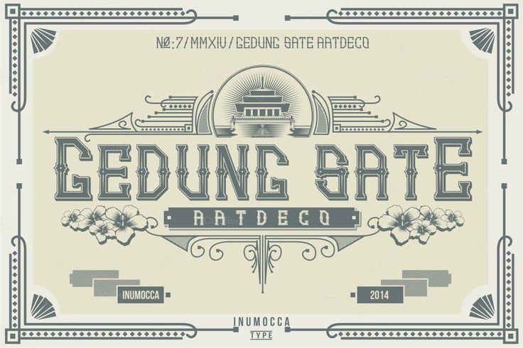 Artdeco (family font) by inumoccatype on @creativemarket