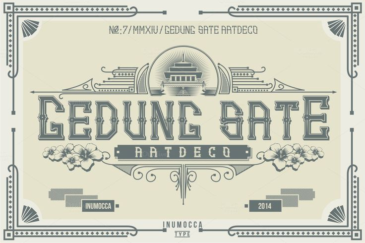 Artdeco (family font) by inumoccatype on @creativemarket