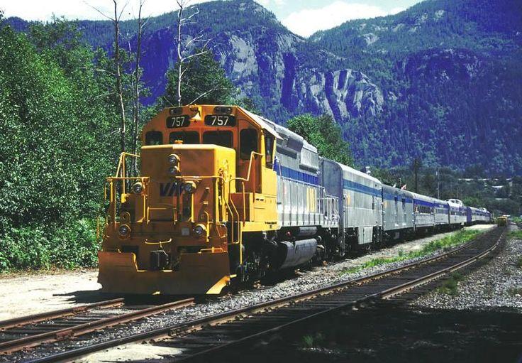 BC Rail 'VIA' 757, RCC4 and consist.