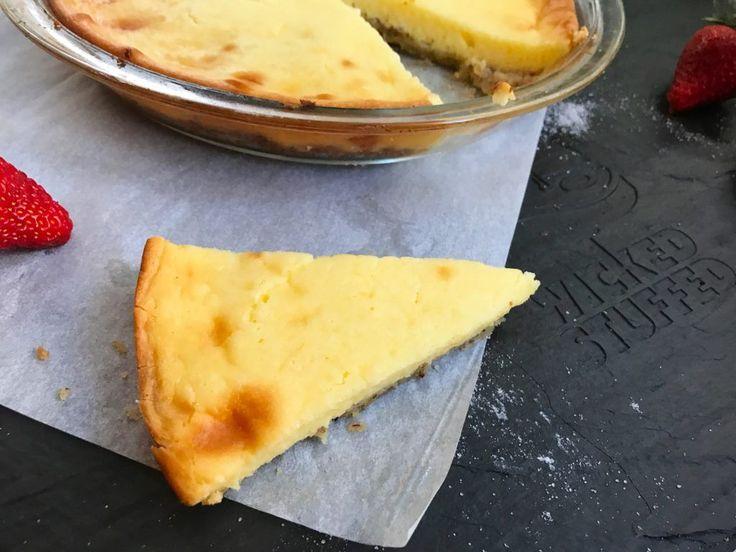 Keto Ooey Gooey Butter Pie - WickedStuffed Keto Blog