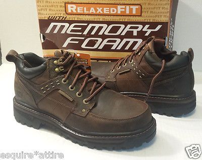 #men shoes boots for sale on ebay SKECHERS men shoes size 10 Relax Fit Memory Foam heavy working shoes leather withing our EBAY store at  http://stores.ebay.com/esquirestore