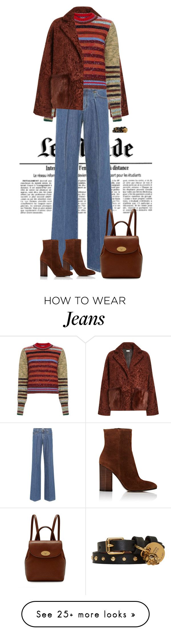 """."" by fashionmonkey1 on Polyvore featuring Utzon, RED Valentino, Gianvito Rossi, Mulberry and Alexander McQueen"