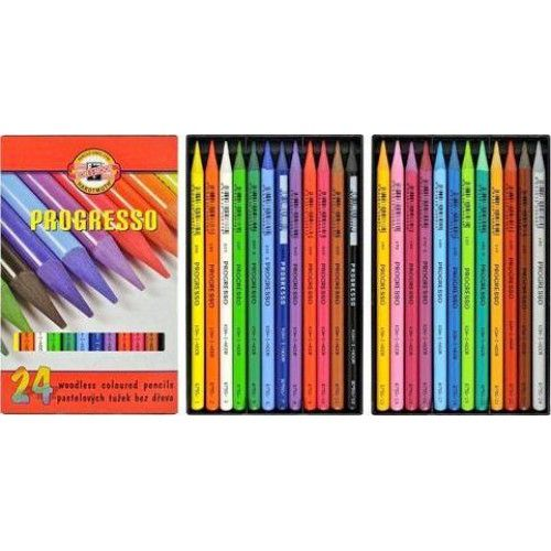 Koh-I-Noor Progresso famentes pasztell ceruza 24 darabos készlet - Színes ceruzák Ft Ár 3,259