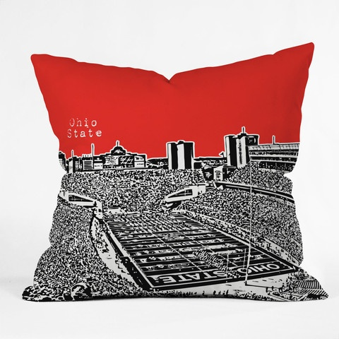 Ohio State Red Throw Pillow... Please someone get me this for Christmas :)