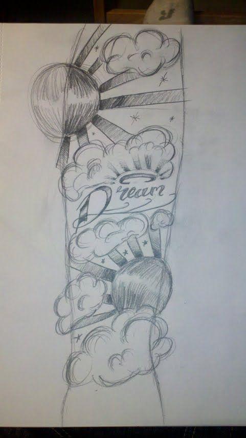 Tattoo Sleeve Drawings Designs: Half Sleeve Tattoo Designs Drawings For Men