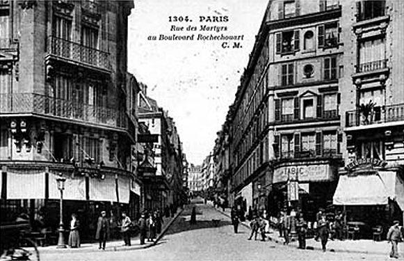 Rue des martyrs desde el bv rochechouart montmartre for Miroir rue des martyrs