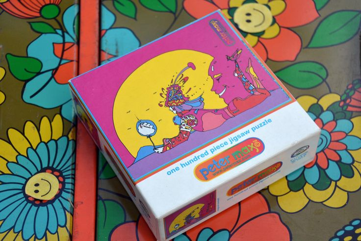 """SEALED Vintage Psychedelic PETER MAX Jigsaw Puzzle: Trippy Groovy 1960s - 1970s Pop Art Icon """"Magical Moment"""" In Fantastic Condition by MerlesVintage on Etsy https://www.etsy.com/listing/235988022/sealed-vintage-psychedelic-peter-max"""