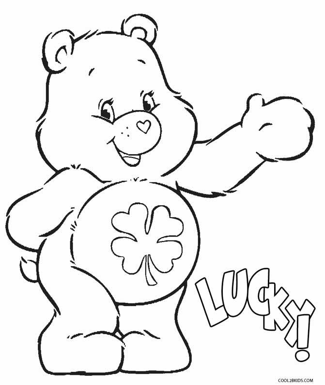 care bears coloring pages oopsy - photo#50