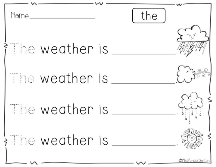 {free} Weather Writing Activity printables